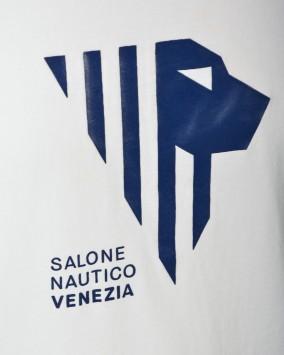 Women's white t-shirt salone nautico logo