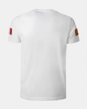 Men's white t-shirt back