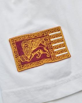 Men's white t-shirt venice republic logo detail