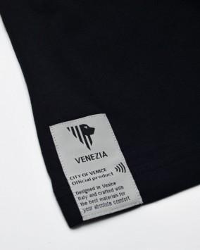 Black t-shirt white Venezia 1600 logotype nfc