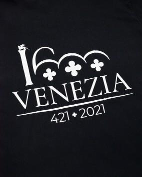 Black t-shirt white Venezia 1600 logotype venezia 1600