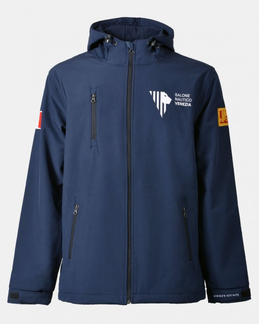Softshell with hood, front