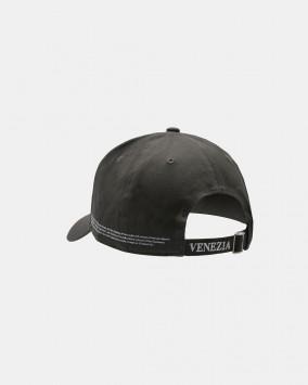 Dark grey baseball cap white stylised lion Venezia logotype back