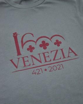 Dark red t-shirt dark red Venezia 1600 logotype venezia 1600