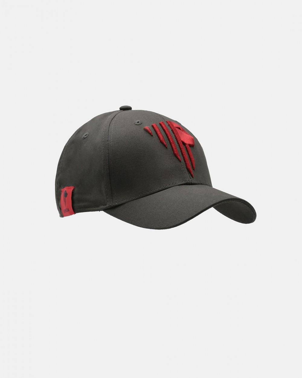 Dark grey baseball cap red stylised lion Venezia logotype front