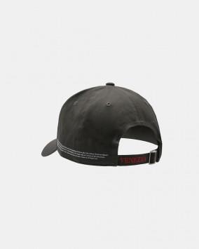 Dark grey baseball cap red stylised lion Venezia logotype back