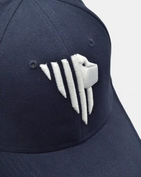 Baseball cap blu dettaglio logo leone