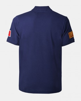 Men's blue polo back