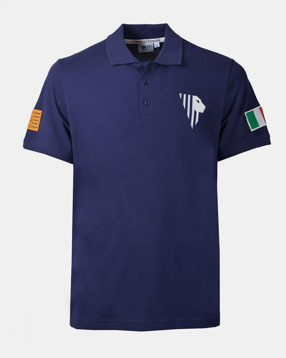 Men's blue polo front
