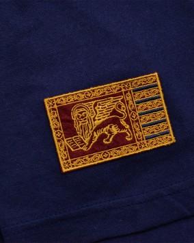 T-shirt donna blu dettaglio logo repubblica venezia