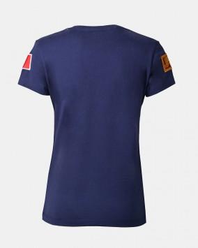 T-shirt donna blu retro