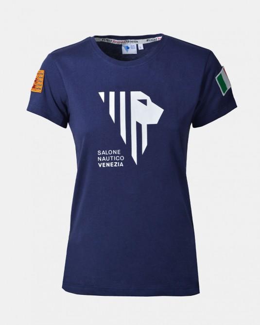Women's blue t-shirt front