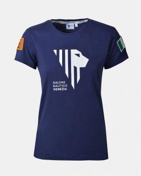 T-shirt donna blu fronte