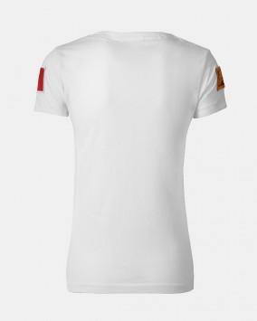 Women's white t-shirt back