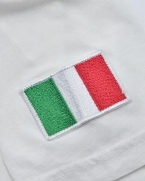 Women's white t-shirt itaian flag